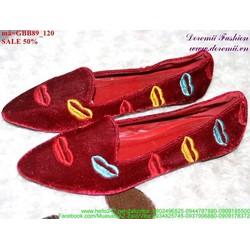 giày búp bê nữ đôi môi đáng iu GBB89