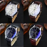 Đồng hồ Yazole dạ quang 2 mặt phụ sang trọng, phong cách doanh nhân