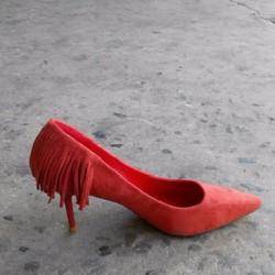 Giày cao gót tua rua sành điệu