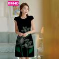 Đầm in 3D dễ thương