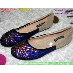 giày búp bê nữ đính hột sành điệu GBB101