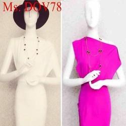 Đầm body thiết kế lệch vai xinh đẹp thời trang DOV78