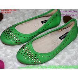 giày búp bê nữ nạm đinh sành điệu GBB98