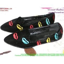 giày búp bê nữ đôi môi dễ thương GBB88