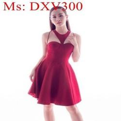 Đầm xòe dự tiệc thiết kế độc đáo sành điệu và sang trọng DXV300