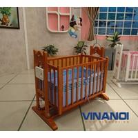 VINANOI VNN301M - Nôi điện tự động gỗ thông màu cánh dán 4 trong 1