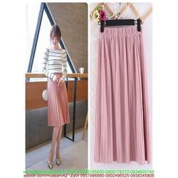 Chân váy xòe dài dập ly nhuyễn xinh đẹp và thời trang CVX22