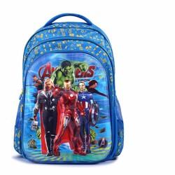 Balo học sinh 5D mẫu mới 2016 với họa tiết hoạt hình Avengers