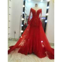 áo cưới đuôi cá đỏ tươi tay dài