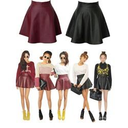 Chân váy da ngắn cực sành điệu cho bạn gái mặc đi chơi CV47
