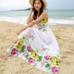 Đầm họa tiết bông hoa sắc xảo tạo nét nữ tính quến rủ cho các nàng-197