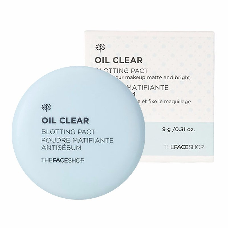 Phấn phủ mịn kiềm dầu Oil Clear Smooth - Bright Pact The Face Shop 1
