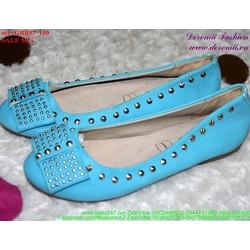 giày búp bê nữ nạm đinh nơ sành điệu GBB97