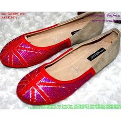 giày búp bê nữ lá cờ sành điệu GBB99