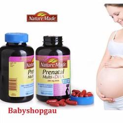 Thuốc bổ bà bầu Nature Made Prenatal Multi + DHA - 150 viên