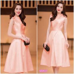 Đầm xòe giống hoa hậu Thu Thảo