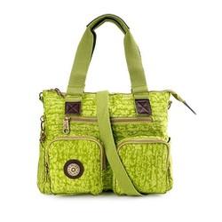 Túi xách hai hộp Kipling vải wax màu xanh chuối