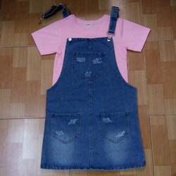 Váy Yếm Jean Hàng Xuất Khẩu