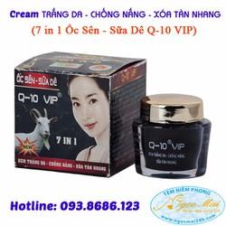 Kem trắng da - Chống nắng - Xóa tàn nhang 7in1 Ốc Sên - Sữa Dê Q-10