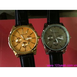 Đồng hồ nam dây da 3 mặt phong cách DHNN67