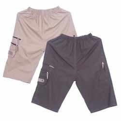 Bộ 2 Quần Shorts Sooc Kaki Nam Đai Thun Túi Hộp Hàn Quốc Chất Đẹp CS4