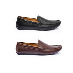 Giày lười da bò nam đơn giản