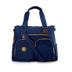 Túi xách hai hộp Kipling vải wax màu xanh đen