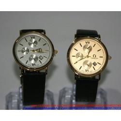 Đồng hồ dây da Ome 3 mặt phong cách sang trọng DHNN101