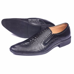 Giày da công sở vân cá sấu sành điệu