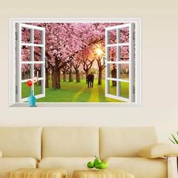 Đề can - Decal dán tường cửa sổ mùa Thu NX8685