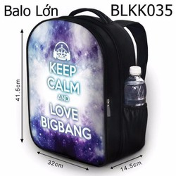 Balo Keep calm and love BIG BANG - VBLKK035