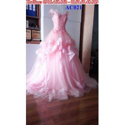 Áo cưới cánh tiên hồng dâu AC021