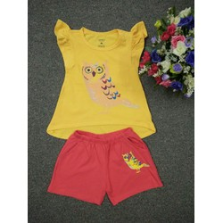Bộ áo quần Carter hình cú xinh cho bé gái