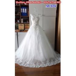 Áo cưới có đuôi AC026
