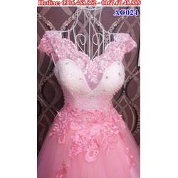Áo cưới cổ ren AC024