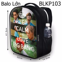Balo Keep calm and love Big Bang - VBLKP103