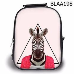 Balo Teen - Học sinh Bộ thú Ngựa vằn mặc áo đỏ - VBLAA198