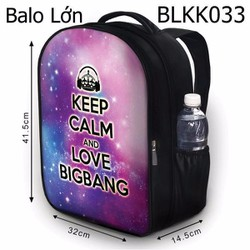 Balo Keep calm and love BIG BANG - VBLKK033