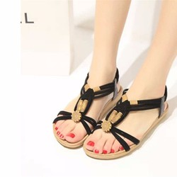 Giày Sandal Dạo Phố Hạt Hoa Văn - MD2387