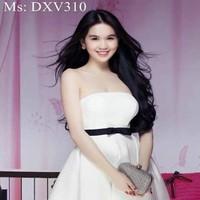 Đầm xòe cúp ngực thắt eo nơ xinh đẹp DXV310