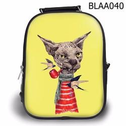 Balo Teen - Học sinh Vui nhộn Mèo hút tẩu - VBLAA040