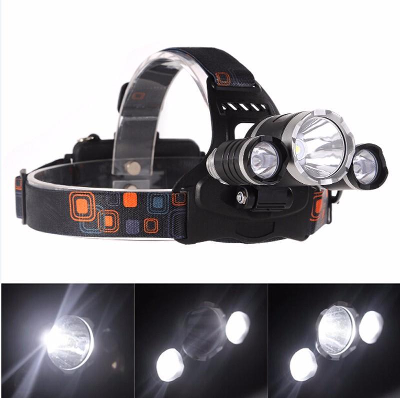 Đèn Pha đội đầu CREE T6 LED pin xịn 5000mah kem sạc 6