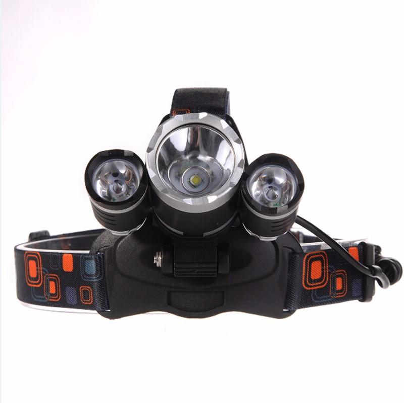 Đèn Pha đội đầu CREE T6 LED pin xịn 5000mah kem sạc 3