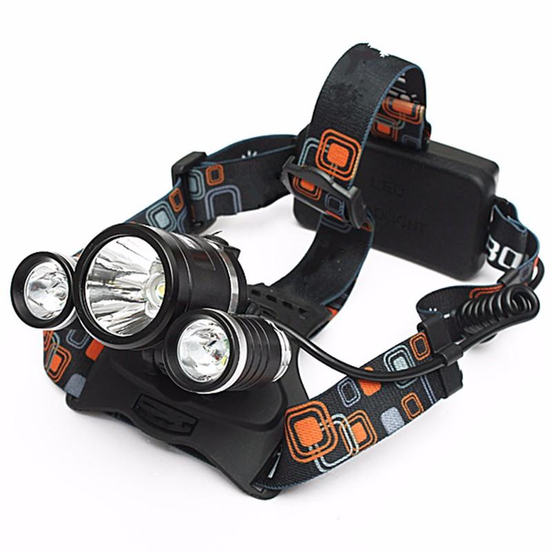 Đèn Pha đội đầu CREE T6 LED pin xịn 5000mah kem sạc 4