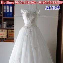Áo cưới hở lưng AC025