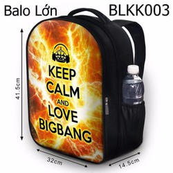 Balo Keep calm and love BIG BANG - VBLKK003