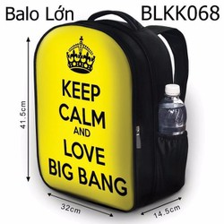 Balo Keep calm and love BIG BANG - VBLKK068