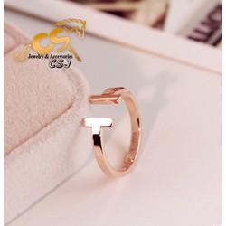 Nhẫn titanium nữ cao cấp đẹp giá rẻ mẫu TC036