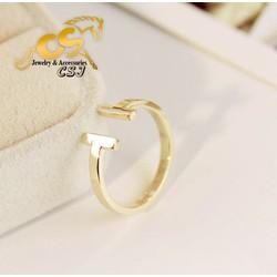 Nhẫn titanium nữ cao cấp đẹp giá rẻ mẫu TC037