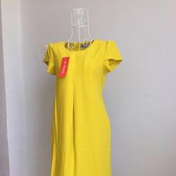 Đầm bầu xếp ly trước ngực + lai xoăn hàng thiết kế